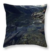 Sitting Along The Sheep River Throw Pillow