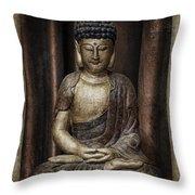 Sitting Buddha Throw Pillow