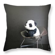 Sitting Meditation. Floyd From Travelling Pandas Series. Throw Pillow