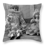Sitting Pretty In Black And White Throw Pillow