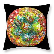 Six  Colorful  Eggs  On  A  Circle Throw Pillow