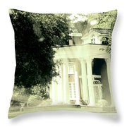 Sixty One Ghosts Live Here Throw Pillow