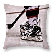 Skate Reflection Throw Pillow