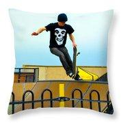 Skateboarding Xi Throw Pillow