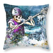 Skelet Oar Throw Pillow