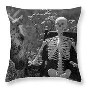 Skeleton In My Closet Throw Pillow