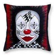 Skeptical...clown Throw Pillow