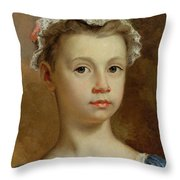 Sketch Of A Young Girl Throw Pillow