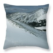 Skier Phil Atkinson Begins His Descent Throw Pillow