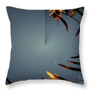 Skimmer Ripple Abstract Throw Pillow