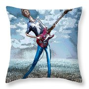 Skinny Guitar Throw Pillow