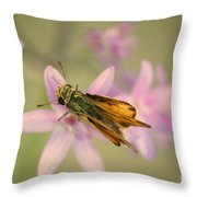 Skipper Butterfly Throw Pillow