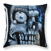 Skull And Spider Throw Pillow