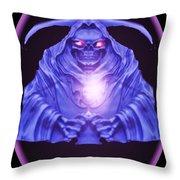 Skull Orb Throw Pillow