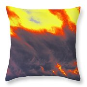Sky A Flame Throw Pillow
