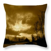 Sky Ablaze Throw Pillow