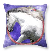 Sky Andalusian Throw Pillow