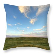 Sky At Sunset, Grasslands National Throw Pillow