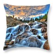 Sky Blue Falls Throw Pillow