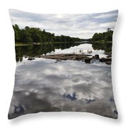 Sky In The Water Throw Pillow
