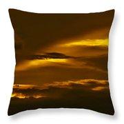 Sky Of Golden Fleece Throw Pillow