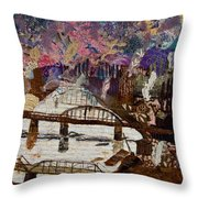 Sky Over The Allegheny Throw Pillow