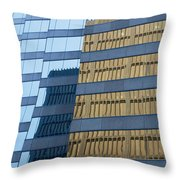Sky Scraper Tall Building Abstract With Windows And Reflections No.0102 Throw Pillow