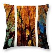 Sky-trees Montage Throw Pillow