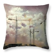 Sky With Clouds Throw Pillow