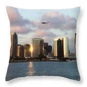 Skyline From Coronado Throw Pillow
