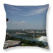 Skylone Tower And Niagara Falls Throw Pillow