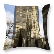 Skyscraper And Spire Throw Pillow