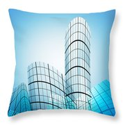 Skyscrapers In The City Throw Pillow