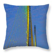 Skyway Crossing Throw Pillow by David Lee Thompson