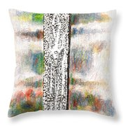 Slab Of Tablet And Stormy Sky Throw Pillow