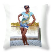 Slammer Ladies Shirt Throw Pillow