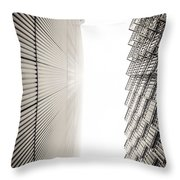 Slatted Window Architecture Throw Pillow