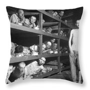 Slave Laborers In A German Throw Pillow
