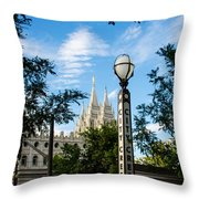 Slc Temple City Creek Throw Pillow by La Rae  Roberts