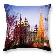 Slc Temple Tree Light Throw Pillow