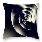 Sleek Modern Snail Throw Pillow