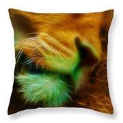 Sleeping Lion 2 Throw Pillow