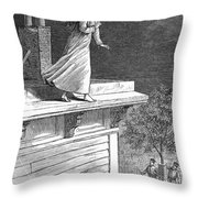 Sleepwalking, 1880 Throw Pillow