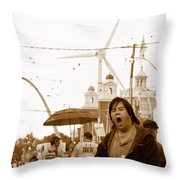 Sleepy At The Fair Throw Pillow