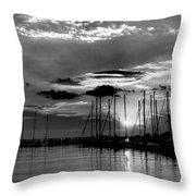 Sleepy Harbor Throw Pillow