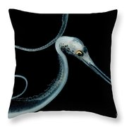 Slender Snipe Eel Throw Pillow