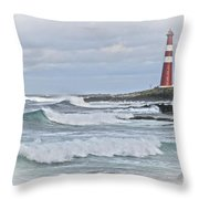 Slettnes Fyr Throw Pillow