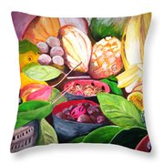Slice Of Jamaica Throw Pillow
