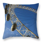 Slice Of The Wheel Of London Eye From An Angle Throw Pillow
