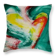 Sliced Peppers Throw Pillow